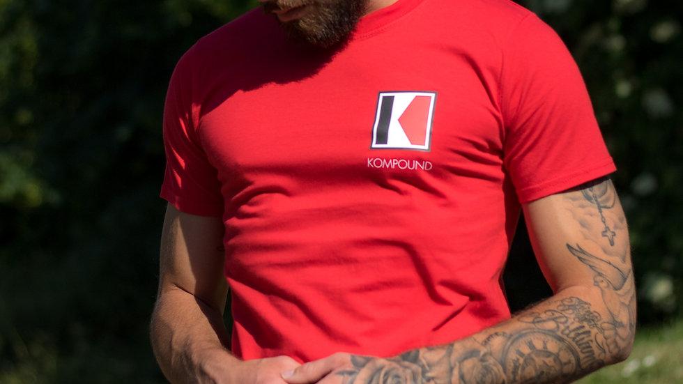 Red Enlarged Kompound T-Shirt
