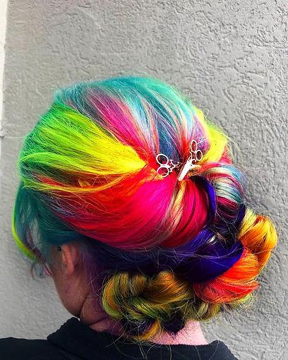 Vivid Hair Updo