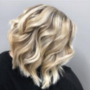 Blonde Hair, Highlights, Angle Bob Haircut, Color Transformation