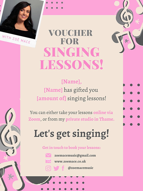 Gift Voucher: Singing Lessons