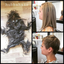 Another #hairmonster day! Good luck with #gradschool Emily! #makeover #magnoliasalon #hubbahair #pix