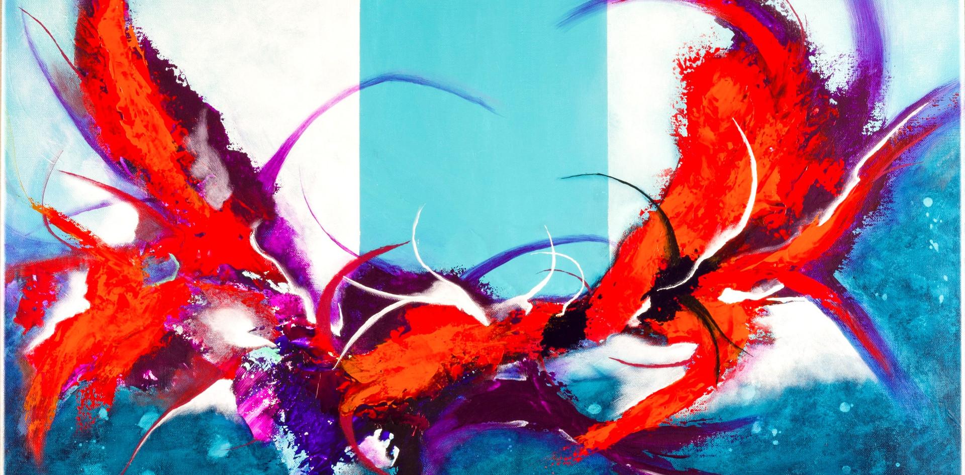 Crabouge tableau abstrait