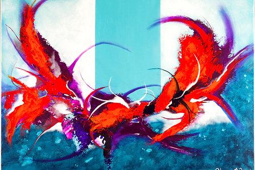 Tableau Abstrait Crabouge