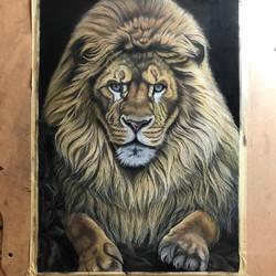 lion pastel