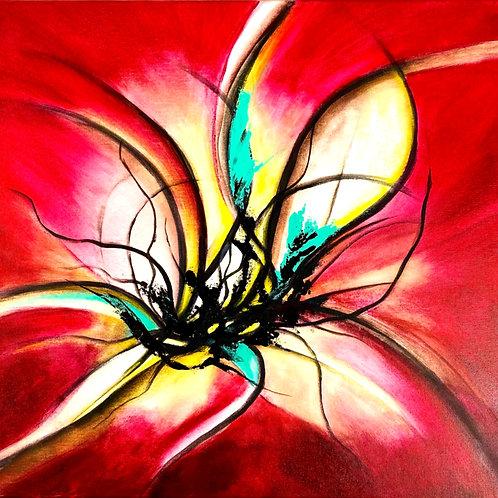 Tableau abstrait Rouge /Art déco