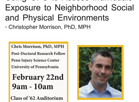 February 22, 2018 - CCEB Seminar: Using GPS to Assess Individuals' Exposure to Neighborhood Social a