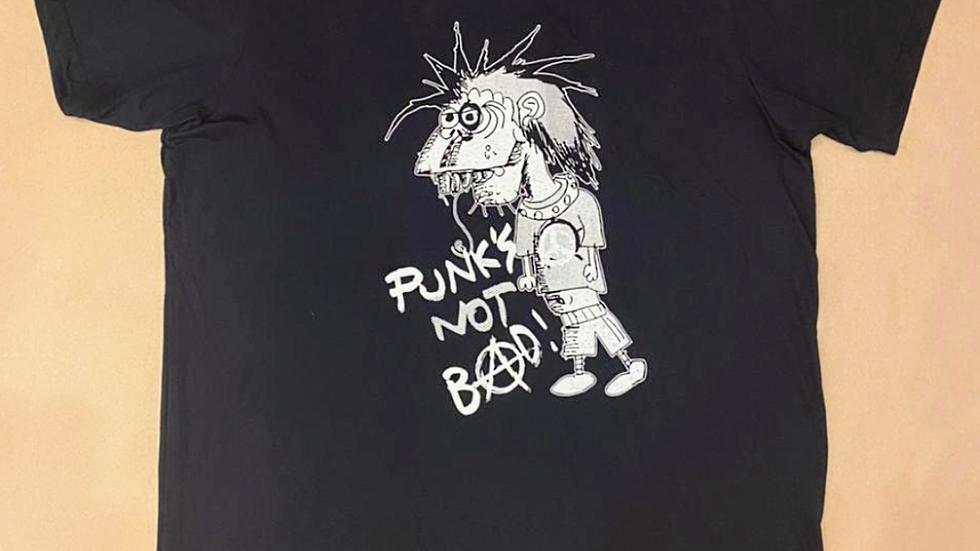"""Punk's not Bad - arte de João Gordo coleção """"Mão de Fogo J.G."""