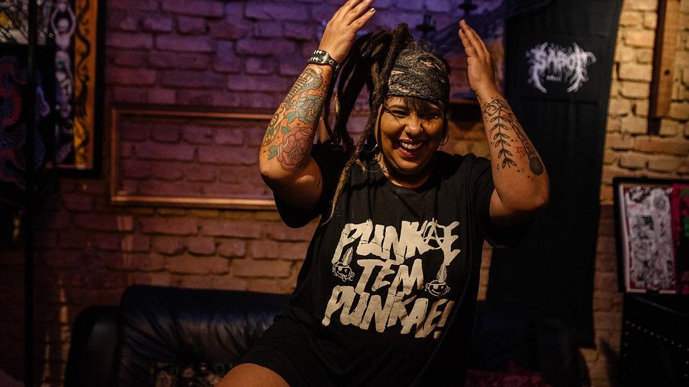 Camiseta Punk Aê! Gritando HC (Collab) - Cinza chumbo estonada