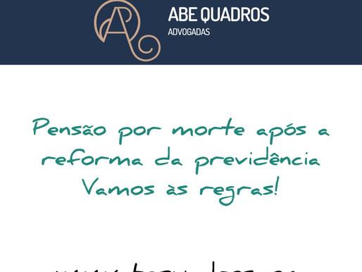 Pensão por morte após a Reforma da Previdência