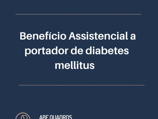 TRF3 DETERMINA CONCESSÃO DE BENEFÍCIO ASSISTENCIAL A PORTADOR DE DIABETES MELLITUS