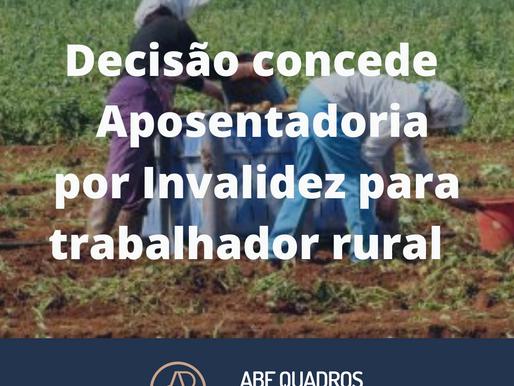 TRF3 concede aposentadoria por invalidez a trabalhador rural portador de lombalgia