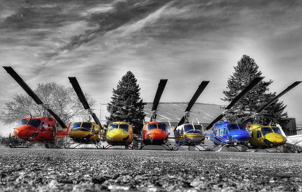 Hangars - Colored Helicopters.1.JPG