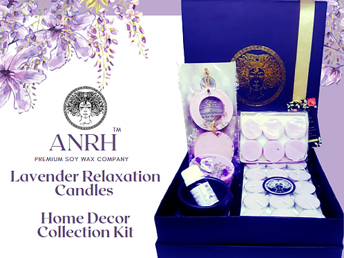 LAVENDER RELAXATION CANDLES (Home Decor Collection Kit)
