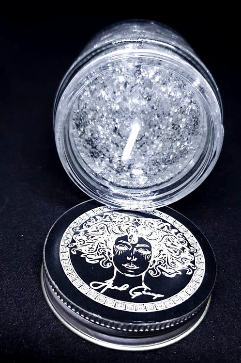 SILVER GEL CANDLE