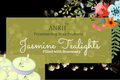 JASMINE  SOY WAX TEALIGHTS - 50 Pieces (Jasmine Essential oil and Rosemary herb)