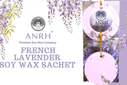 FRENCH LAVENDER SOY WAX SACHET - The fragrance sachet filled with Lavender