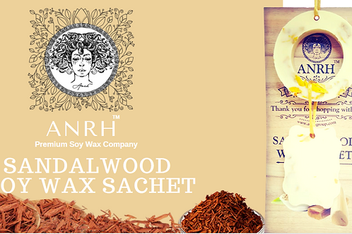 SANDALWOOD  SOY WAX SACHET - The fragrance sachet filled with Herbs & Botanicals