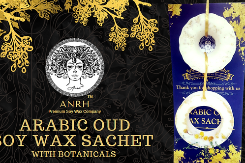 ARABIC OUD SOY WAX SACHET - The fragrance sachet filled with Pure Oud Extracts