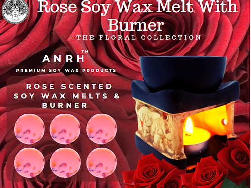 Rose Soy Wax Melts With Burner