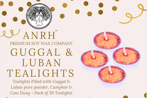 ANRH GUGGAL & LUBAN Gold Camphor/Cow Dung Tealight Candles