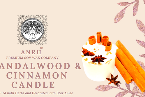 SANDALWOOD CINNAMON BOTANICAL CANDLE