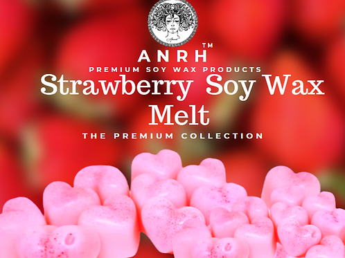 STRAWBERRY SOY WAX MELTS (Anrh Strawberry Fragrance Melts for Home)