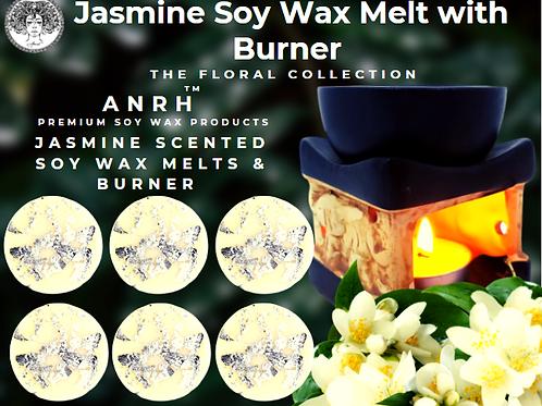 Jasmine Soy Wax Melt with Burner