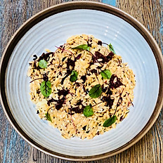 Quinoa, almond and feta