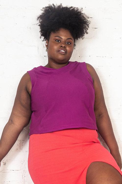 Blusa Trinidad Violeta   Plus Size