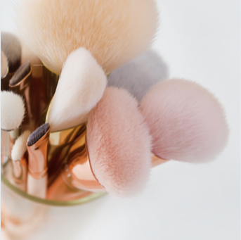 Wash your makeup brushes with soap and water. Here's why...