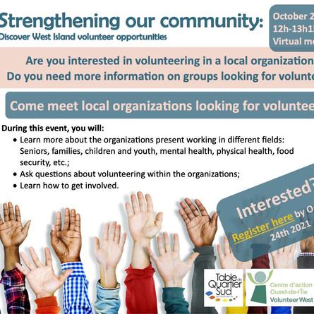 West Island volunteer opportunities