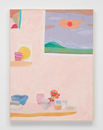"""Evening with Rachel,"" 2021 Acrylic on canvas 40 x 30 inches 101.6 x 76.2 cm"
