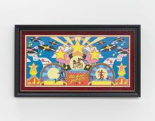 """""""King Michael Philip Jackson II – A Copy of a Copy (Colorforms ©, Triumph International, 1983),"""" 2021 Colorforms© 17 x 28.5 inches 43.2 x 72.4 cm"""