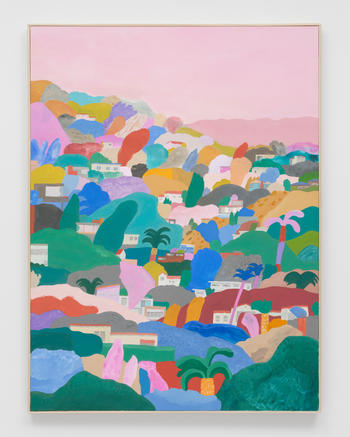 """""""Make Hay (The Old Walk above the Reservoir),"""" 2021 Acrylic on canvas 48 x 36 inches 121.9 x 91.4 cm"""