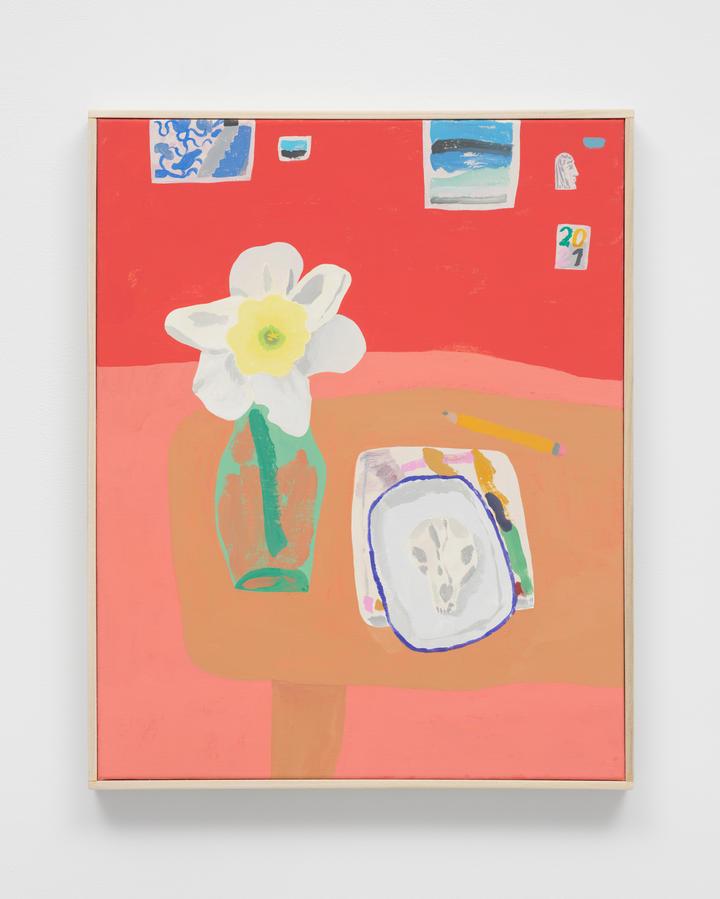 """Silver Way Studio,"" 2021 Acrylic on canvas 20 x 16 inches 50.8 x 40.6 cm"