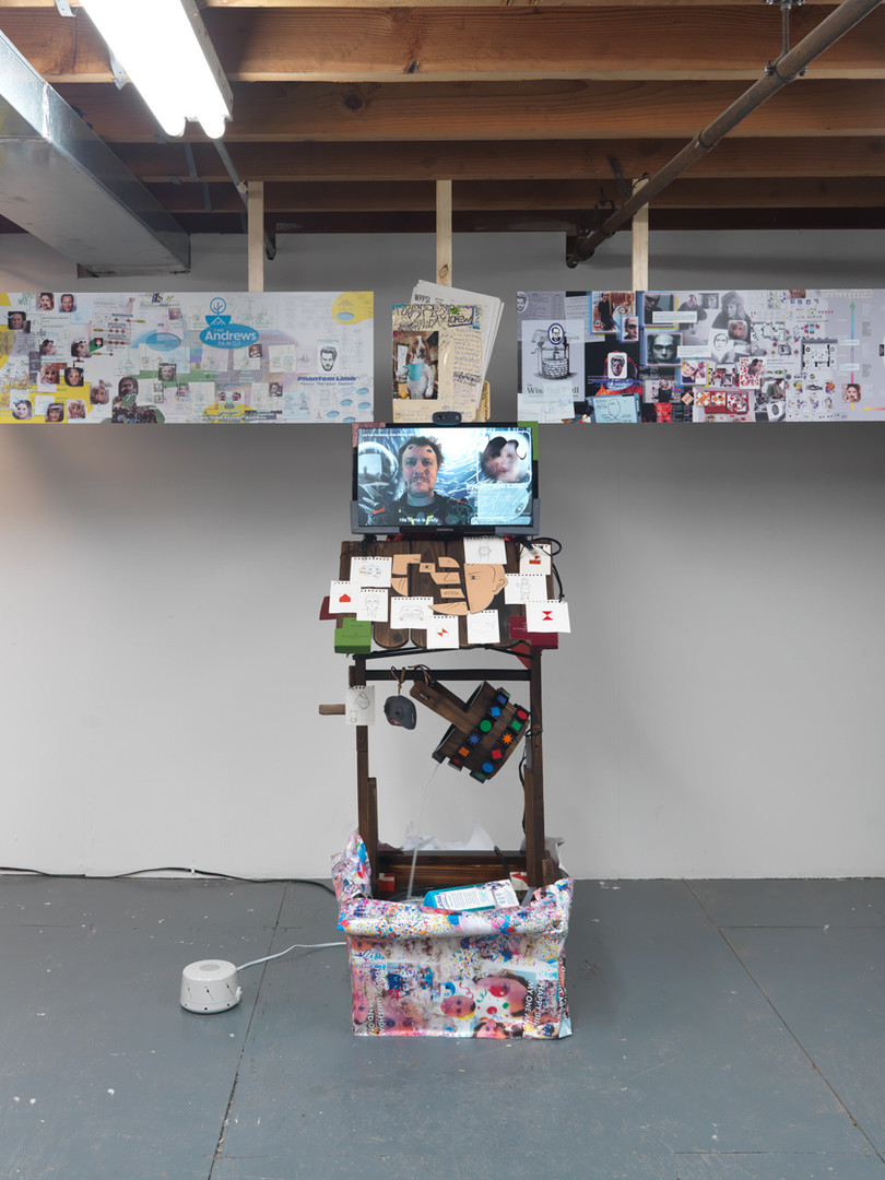 Installation view The First Story: A Show About Twinning Marinaro, New York