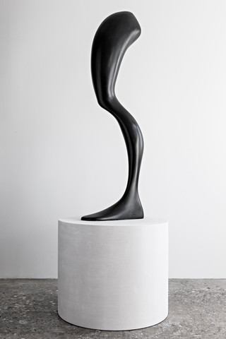 Left Leg (after A.G.), 2020 Epoxy clay and steel 88.5 x 32 x 32 inches  (224.8 x 81.3 x 81.3 cm) Unique