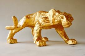 Panthère Résine Feuille d'or