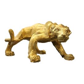 La Panthère Bronze Feuille d'or