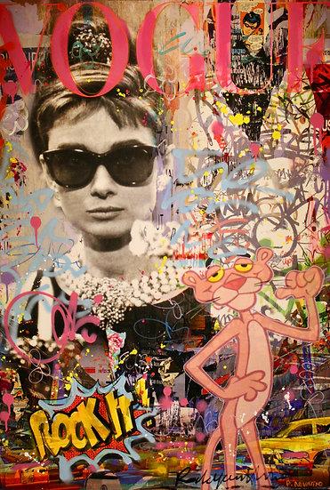 Pink Lady - FABIEN NOVARINO - Panthère Rose - Audrey Burn - Peinture