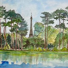 Pierre Macret Lac du Bois de Boulogne Galerie Leadouze