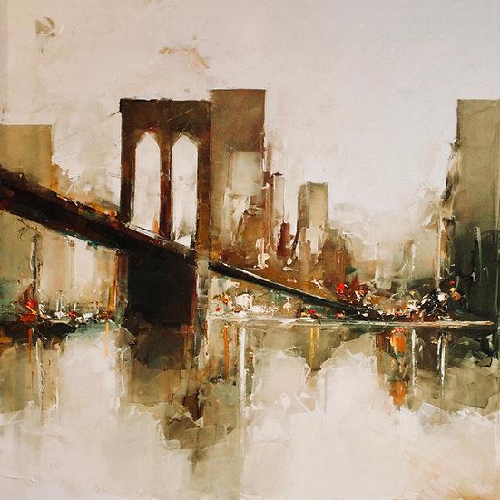 Daniel Castan - Brooklyn Bridge - Huile sur Toile