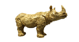 Petit Rhino Feuille d'or