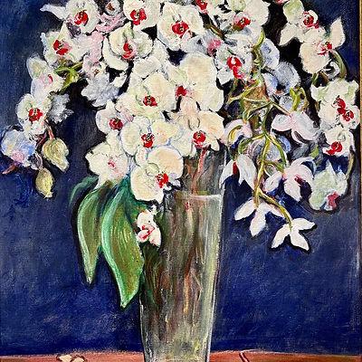 M.TOUSSOUN Galerie Leadouze Le Grand Vase d'Orchidées