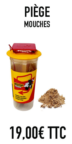 Piège à mouches très efficace pour détruite le mouches dans votre environnement, en bordure de fenètres dans vos écuries étables grange produit vendu chez oust nuisibles à saint quentin de baron en gironde