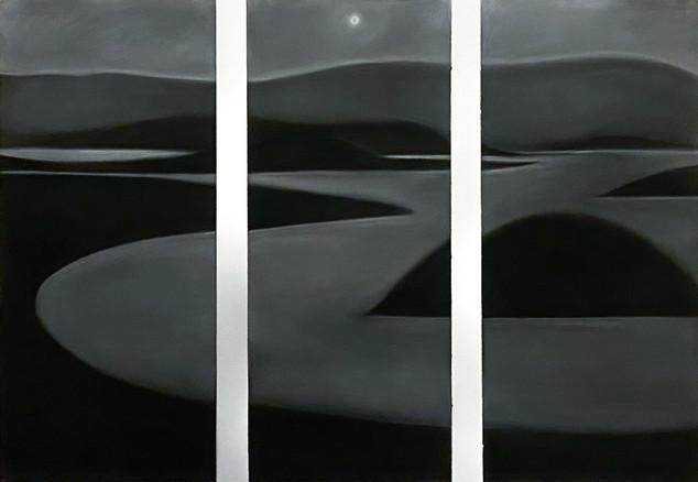 "Hudson  37 x 55"" Charcoal on paper 2020"