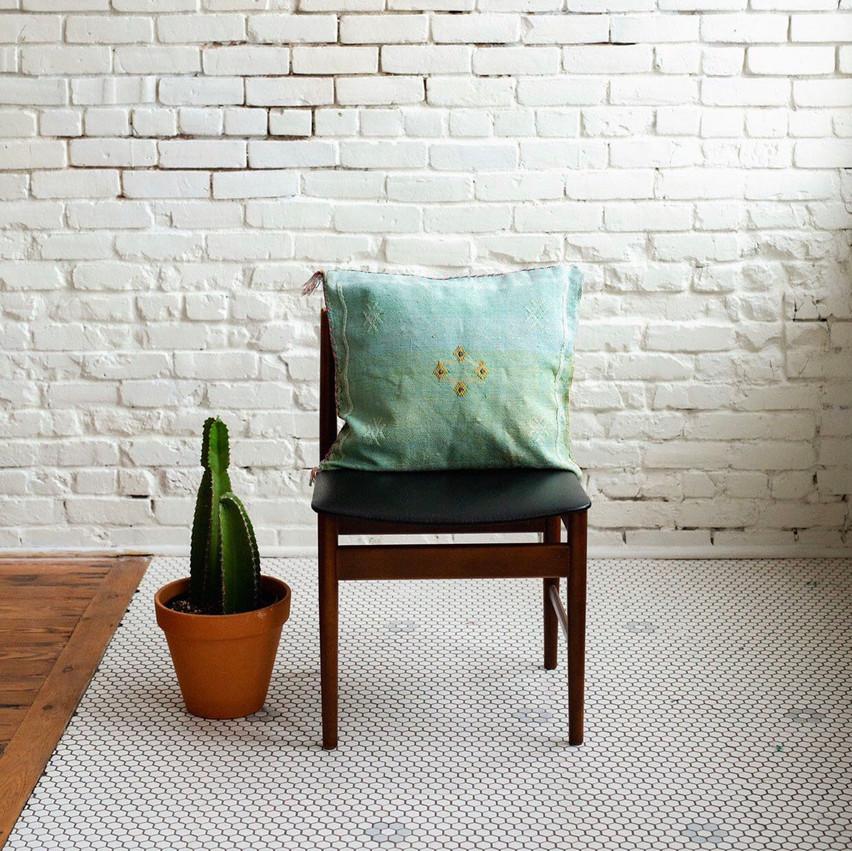 Sabra Cactus Silk Pillow