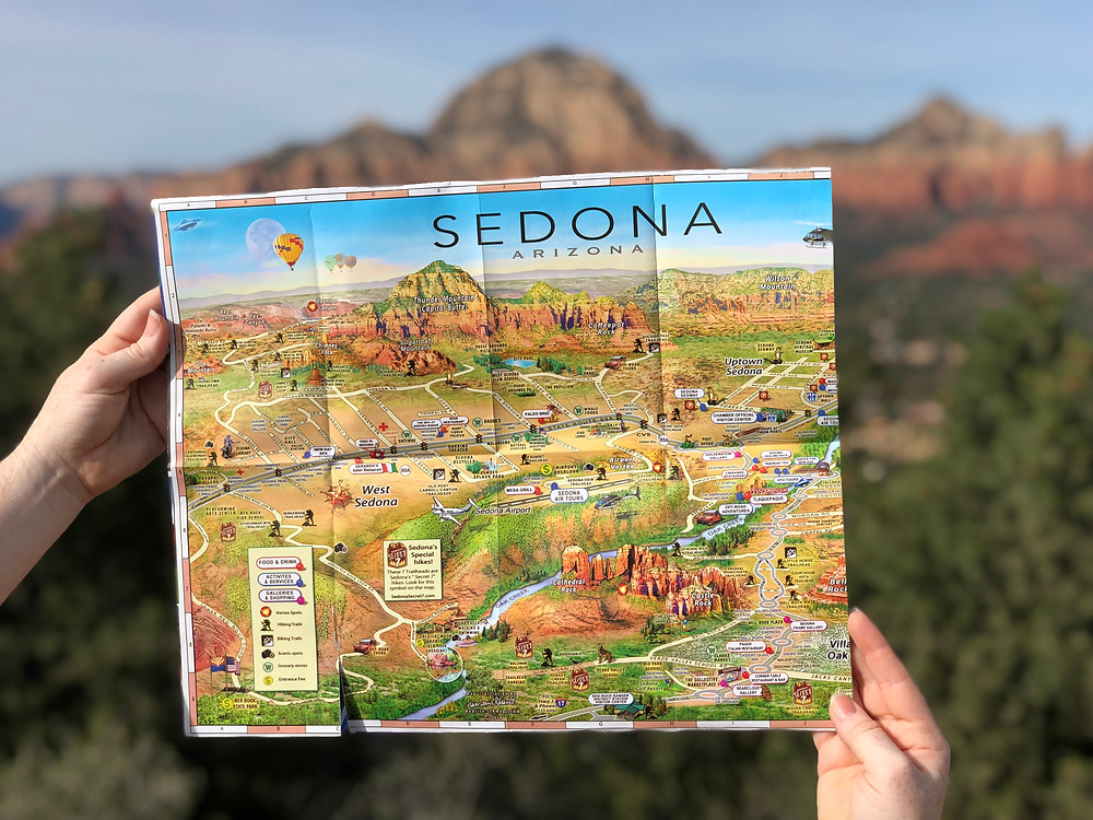 hiking trail map of sedona arizona