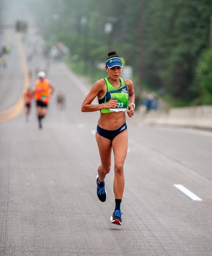 anita perez single mother of two running marathon