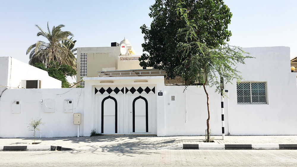 middle eastern style building in united arab emirates